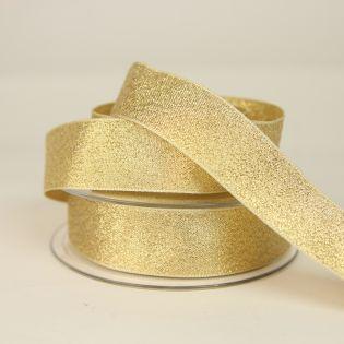 Lamé-Band - Glitzer - 25 mm - gold