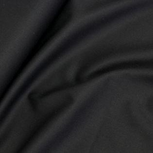 Gabardine-Stretch - uni - schwarz