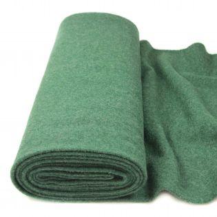 Walkloden - schwer - uni - grün