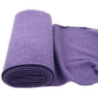 Walkloden schwer - uni - violett