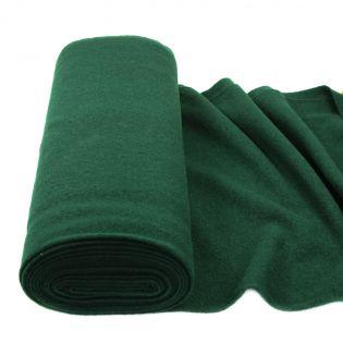 Walkloden schwer - uni - dunkelgrün