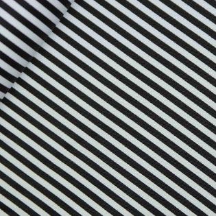 Baumwolle - Köper - Streifen - schwarz, weiß