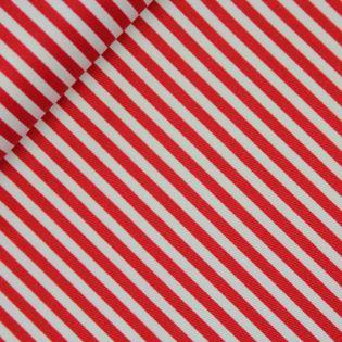 Baumwolle - Köper - Streifen - rot, weiß