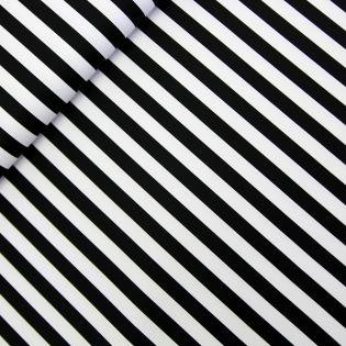 Baumwolle - Köper - Streifen breit - schwarz, weiß