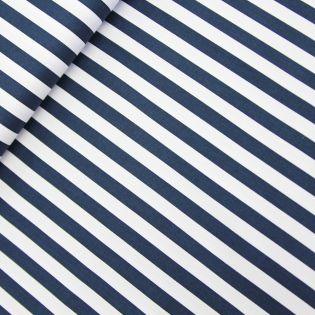 Baumwolle - Köper - Streifen breit - blau, weiß
