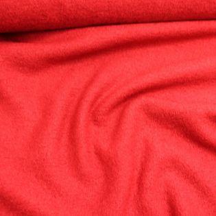 Schurwolle-Viskose - Walkloden - leuchtend rot