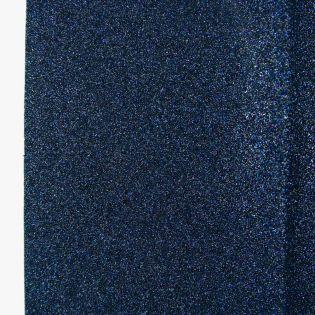 Bügelflicken - Glitter - blau