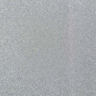 Bügelflicken - Glitter - silber