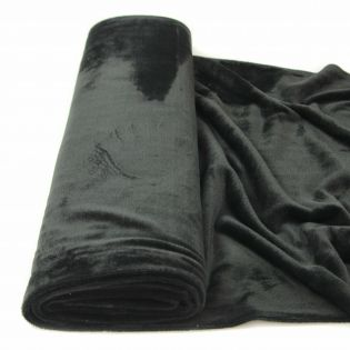 Alpenfleece - uni - schwarz