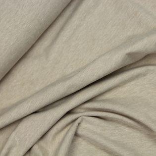 Baumwolljersey - melange - beige