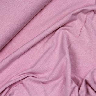Baumwolljersey - melange - rosa