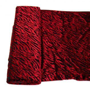 Samtausbrenner - glanz - rot-schwarz