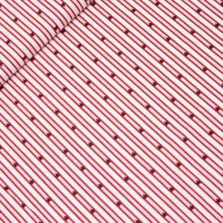 Baumwolle - Weihnachten - Sterne und Streifen