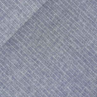 Viskose-Leinen - Nadelstreifen - blau