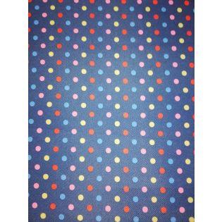 Taschenplane - Canvas - Punkte - marine