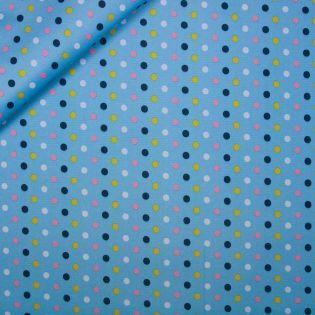 Taschenplane - Canvas - Punkte - blau