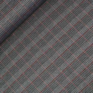 Fischgrat - Burda style - grau-rot