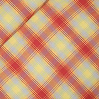 Viskose - Karo - gelb-rot