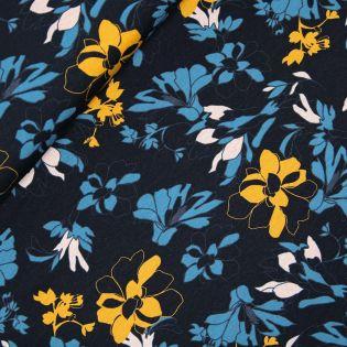 Viskosejersey - winterliche Blüten