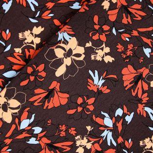 Viskosejersey - Herbstliche Blüten
