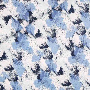 Leinen-Viskose - gemalte Streifen