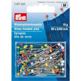 Prym - Glaskopfstecknadeln - 30 x 0,60 mm - 10g
