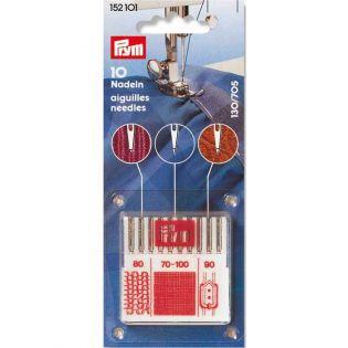 Prym - Nähmaschinennadeln mit Flachkolben - 10 Stück