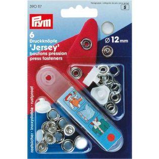 Jersey-Druckknöpfe - Ring - 12 mm mit Werkzeug