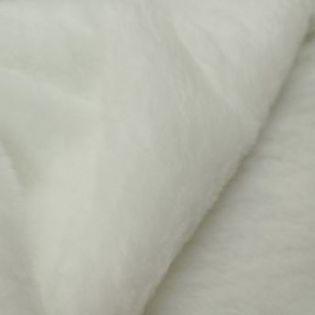 Plüsch - uni - weiß