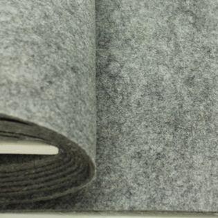Bastelfilz - uni - grau meliert