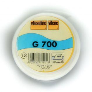 G700 - aufbügelbare Gewebeeinlage - weiss