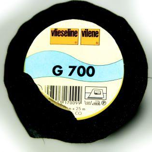 G700 - aufbügelbare Gewebeeinlage - schwarz