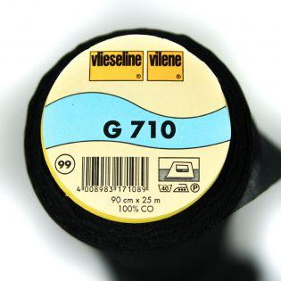 G710 - aufbügelbare Gewebeeinlage - schwarz
