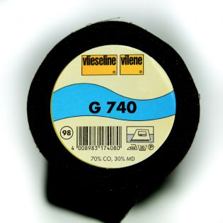G740 - aufbügelbare Gewebeeinlage - schwarz