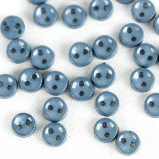 2-Loch-Knopf - 7 mm - jeansblau