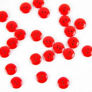2-Loch-Knopf - 11 mm - glänzend-rot