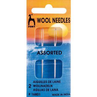 PONY - Vernähnadel für Wollsachen mit Spitze - Stärke 16