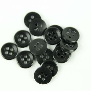 4-Loch-Knopf - 11 mm - schwarz