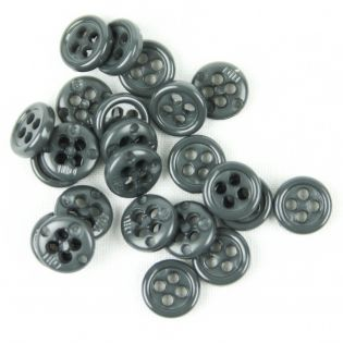 4-Loch-Knopf - 9 mm - anthrazit