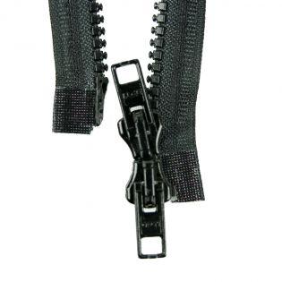 Reißverschluss Opti - P60 - 90cm - Werraschieber - Zweiwege - teilbar - schwarz