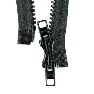 Reißverschluss Opti - P60 - 45cm - Werraschieber - Zweiwege - teilbar - schwarz