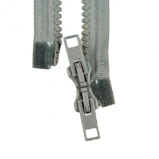 Reißverschluss Opti - P60 - 90cm - Werraschieber - Zweiwege - teilbar - grau