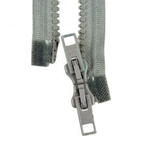 Reißverschluss Opti - P60 - 40cm - Werraschieber - Zweiwege - teilbar - grau