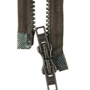 Reißverschluss Opti - P60 - 35cm - Werraschieber - Zweiwege - teilbar - zartbitterschoko