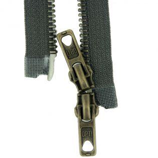 Reißverschluss Opti - M60 - 75cm - Werraschieber - Zweiwege - teilbar - granit