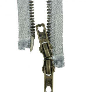 Reißverschluss Opti - M60 - 75cm - Werraschieber - Zweiwege - teilbar - grau