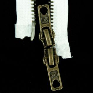 Reißverschluss Opti - M60 - 70cm - Werraschieber - Zweiwege - teilbar - weiß