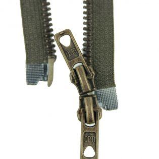 Reißverschluss Opti - M60 - 90cm - Werraschieber - Zweiwege - teilbar - sumpf