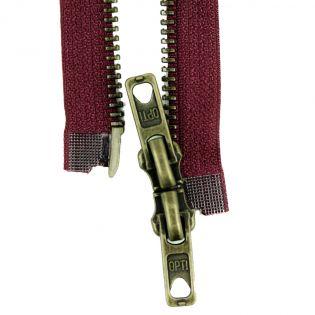 Reißverschluss Opti - M60 - 90cm - Werraschieber - Zweiwege - teilbar - bordeaux