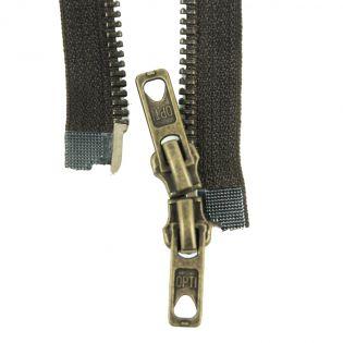 Reißverschluss Opti - M60 - 90cm - Werraschieber - Zweiwege - teilbar - zartbitterschoko